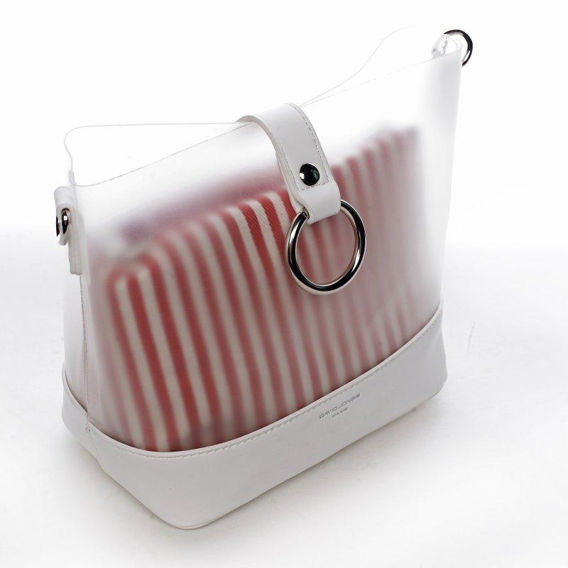 Letní designová kabelka Summer sun, bílá