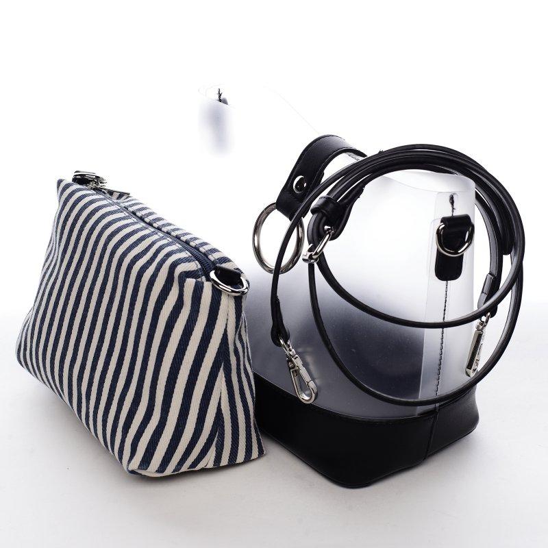 Letní designová kabelka Summer sun, černá