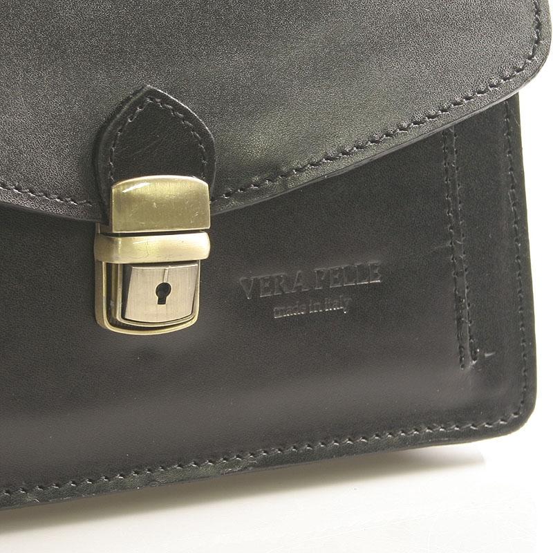 Pánská kožená klasická taška Rhett, černá