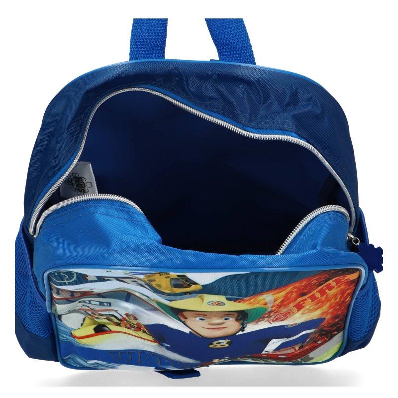 Předškolní batoh i na výlety Požárník Sam pro kluky, modrý