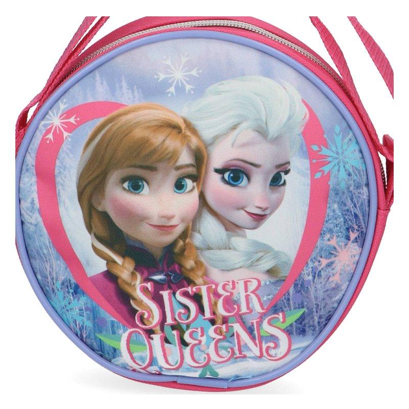 Dívčí kulata kabelka Ledové království Frozen, modrá
