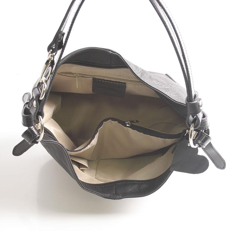 Dámská kožená kabelka Andrea, černá