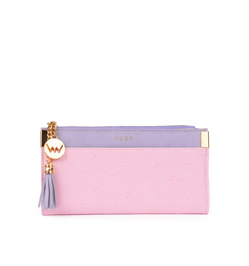 Moderní dámská peněženka VUCH Diamonds, růžová