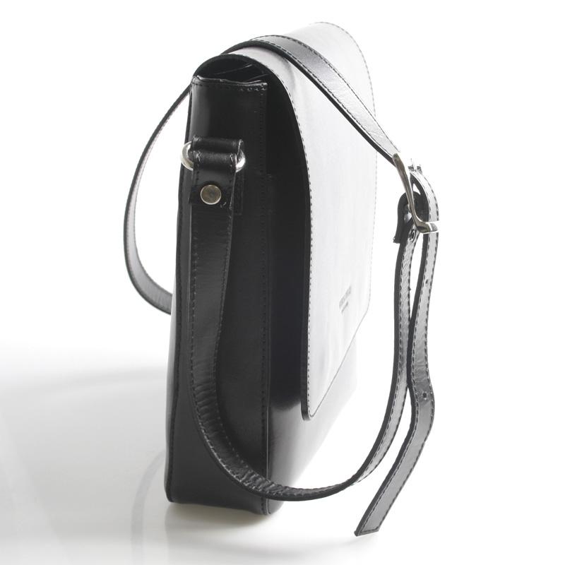 Kožená taška přes rameno Amadeo černá