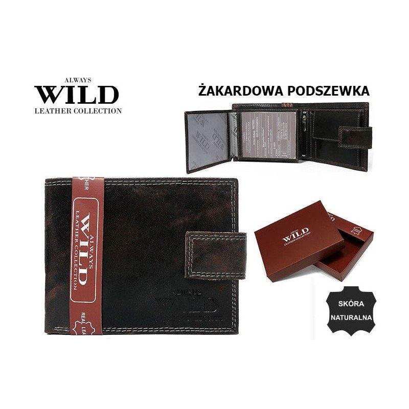 Luxusní pánská kožená peněženka hnědá se zapínáním