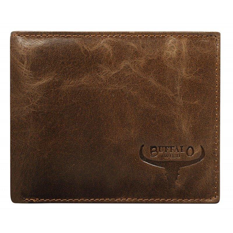 Praktická pánská kožená peněženka Leopold, hnědá