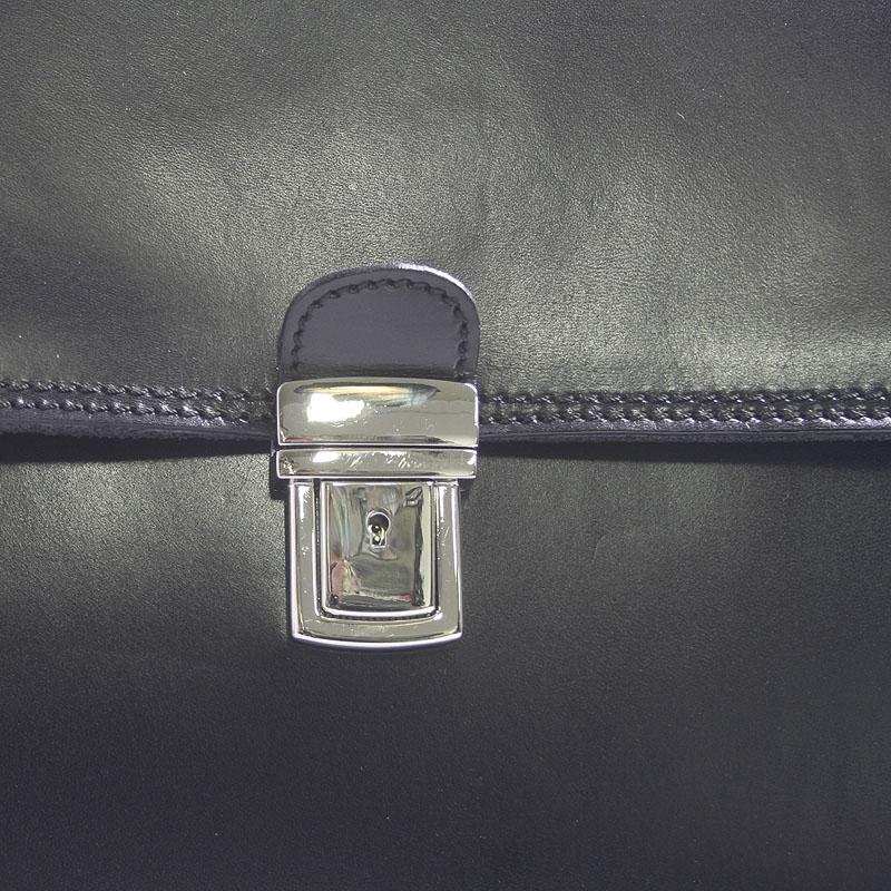 Pánská konzervativní kožená taška Tony, černá
