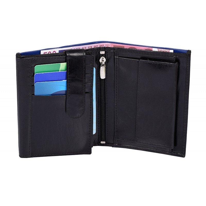 Praktická pánská kožená peněženka His style, černá