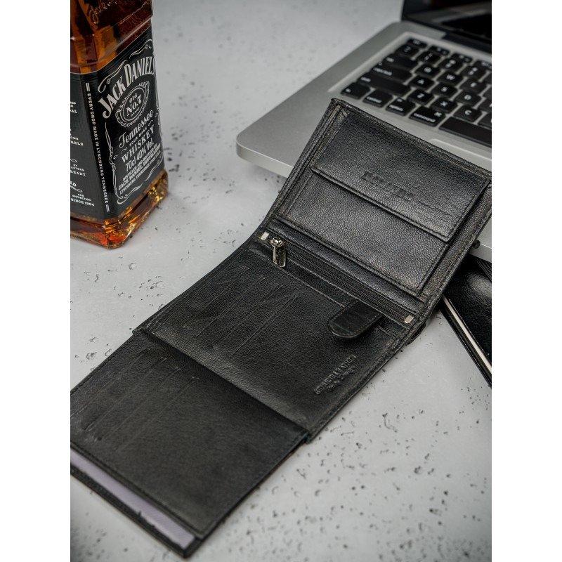 Pánská kožená peněženka Emil, černá