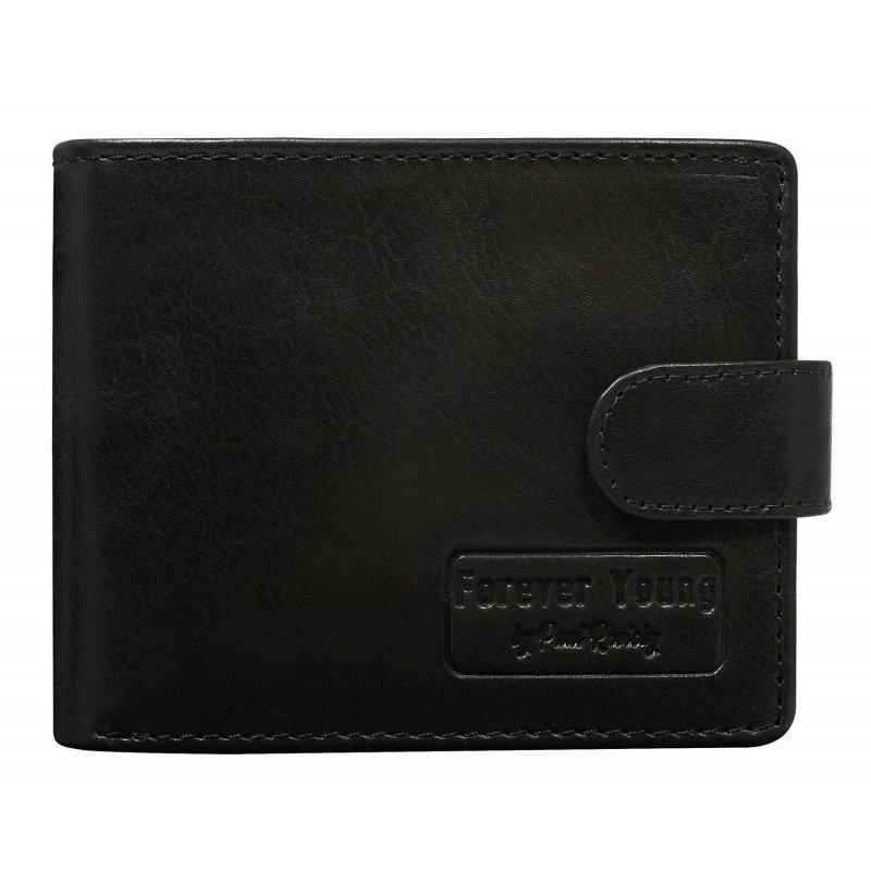 Pánská kožená peněženka se zapínáním Moris, černá