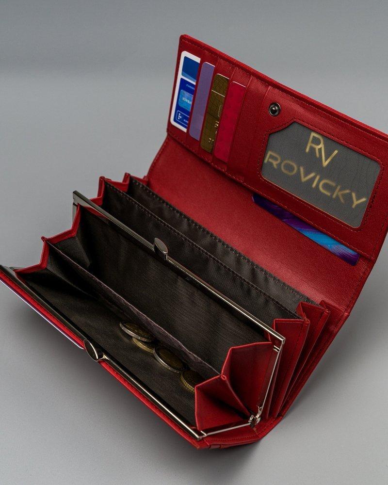 moderní dámská koženková peněženka Sandras, červená