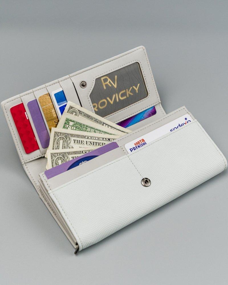 Praktická koženková peněženka Elena Grey, šedá