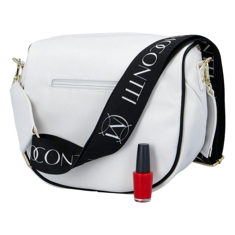 Designová koženková kabelka a ledvinka v jednom Massimo, bílá