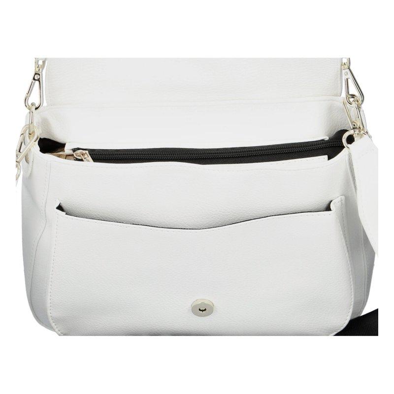 Dámská designová kabelka Massimo C., bílá