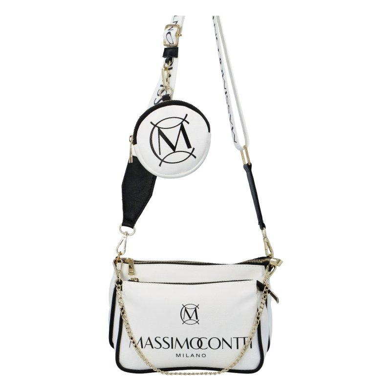 Designová koženková kabelka Milano Massimo, bílá