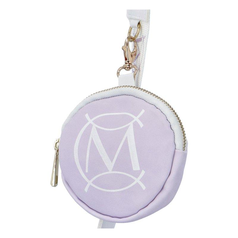 Designová koženková kabelka Massima lilas, lila