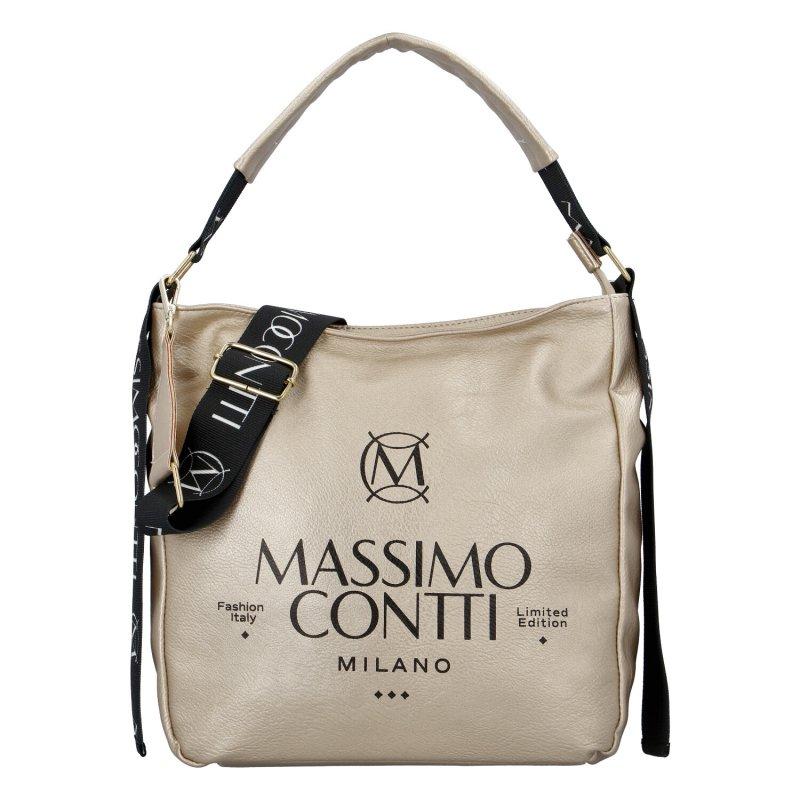 Designová dámská kabelka Mass.Con., zlatá