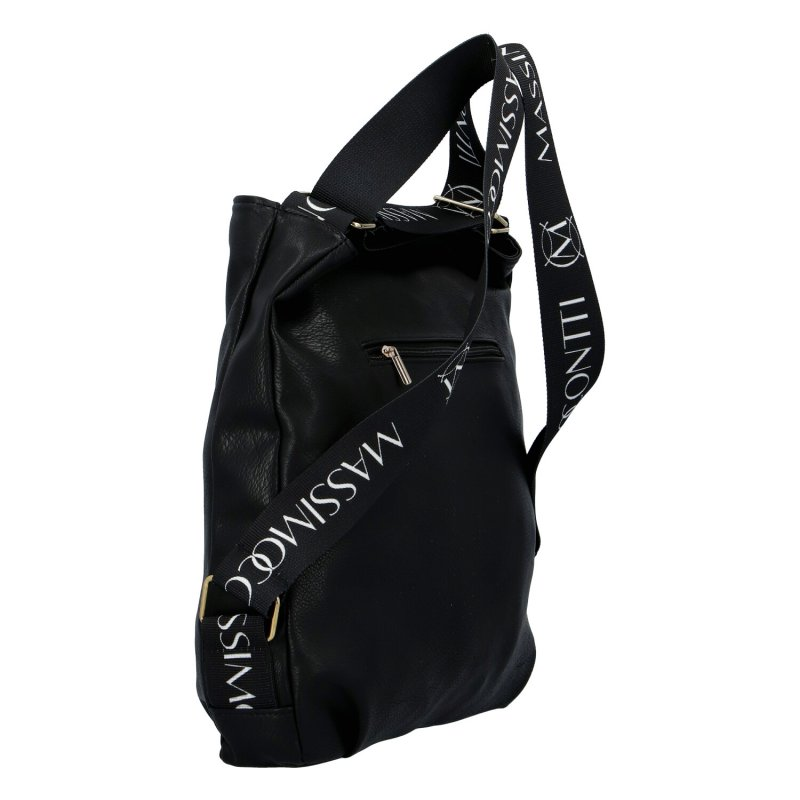 Trendový dámský koženkový kabelko-batoh M.C.Milano, černá