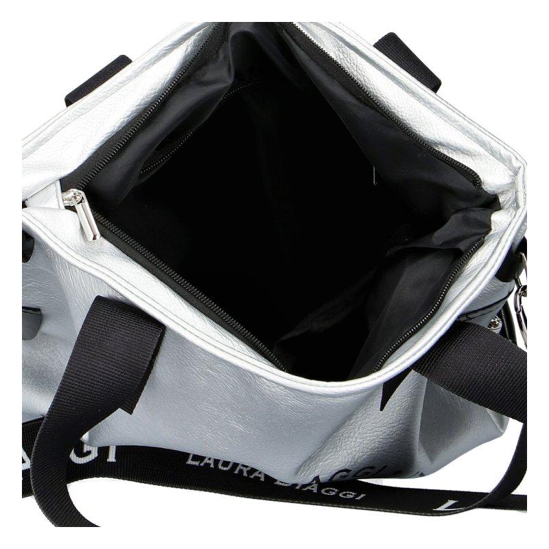 Designová dámská kabelka Star Laura, stříbrná