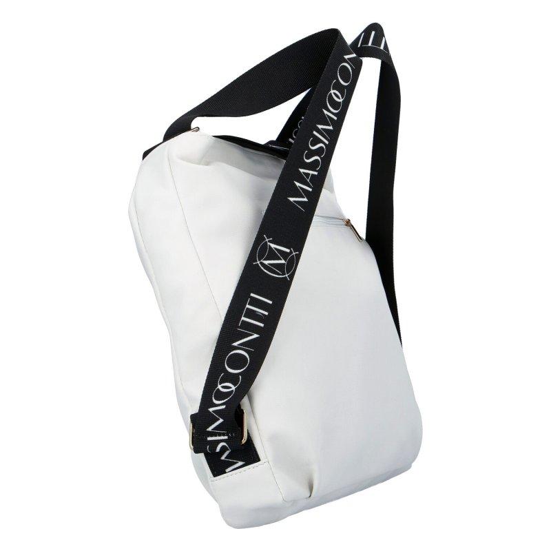 Trendový dámský kabelko batoh M.Conti., bílá