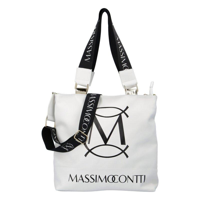 Designová dámská kabelka Massimooo, bílá