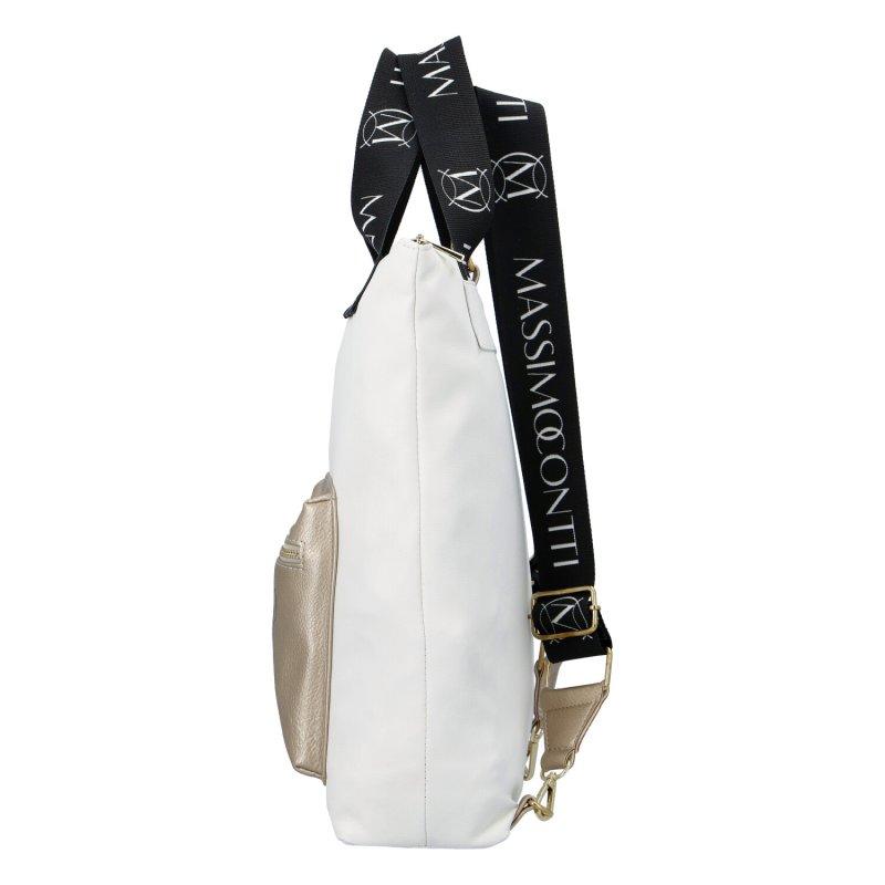 Dámská koženková kabelka Masimmo italy, bílá