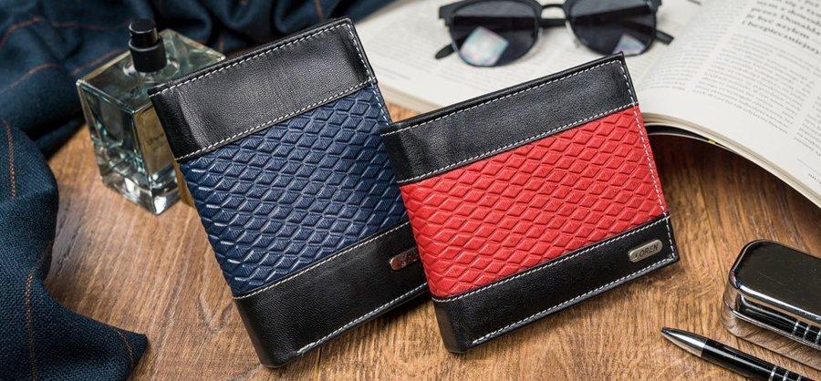 Praktická pánská kožená peněženka Leonardo D.,modrá