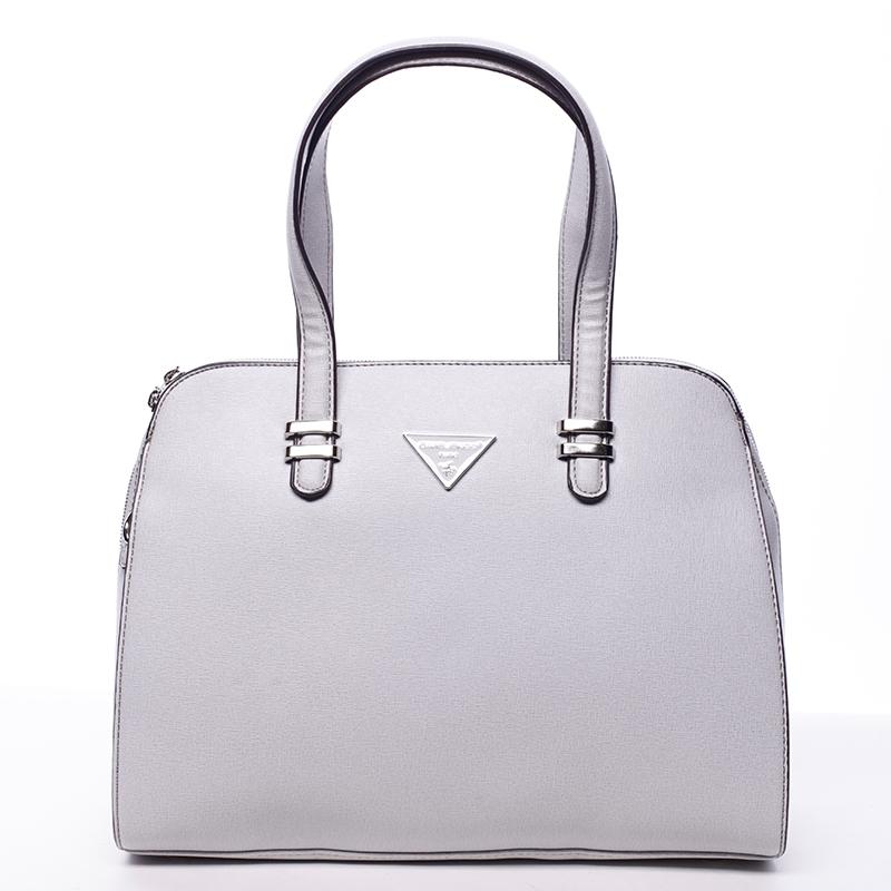 1105760bcff1 Luxusní dámská kabelka DAVID JONES Selena světle šedá