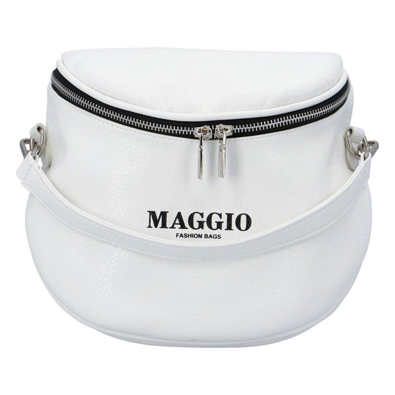 Moderní menší dámská kabelka Maggio stylish, bílá