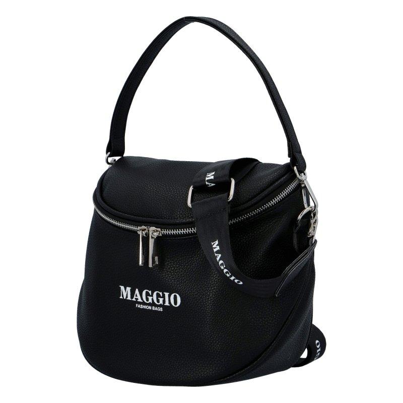 Moderní menší dámská kabelka Maggio stylish Black, černá