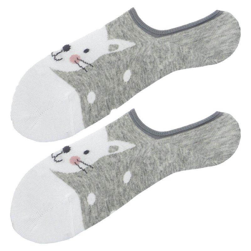 Ponožky Aura via Kočka 35-38, šedá