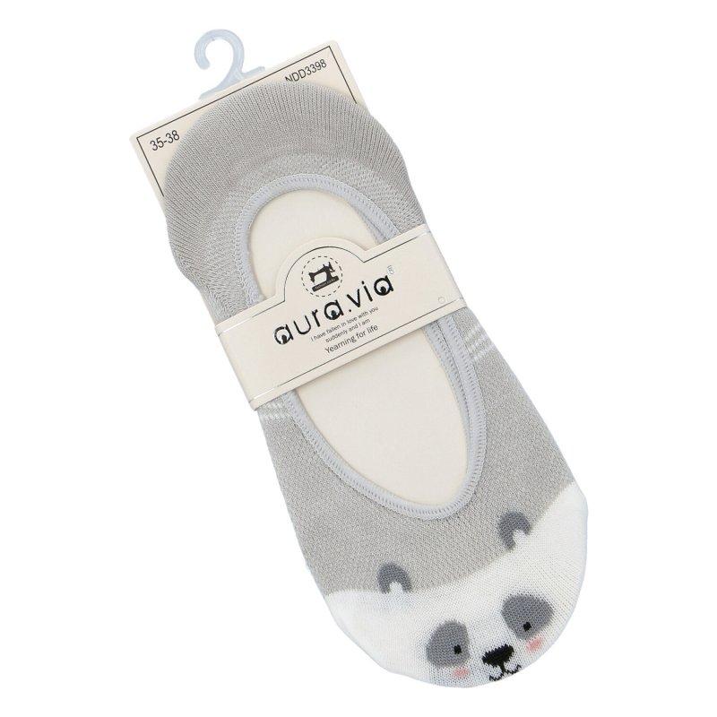 Ponožky do balerínek Aura via Panda 38-41,šedá