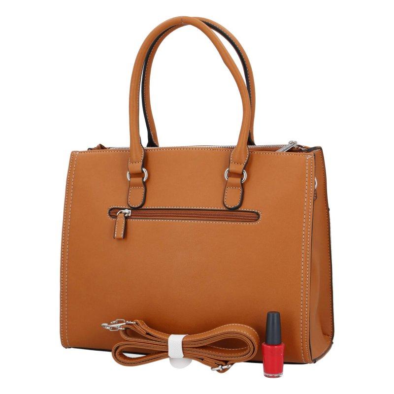 Moderní dámská kabelka Lejla D., hnědá