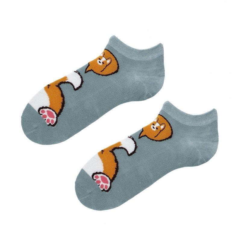 Kotníčkové ponožky Aura via Liška 38-41, zelená