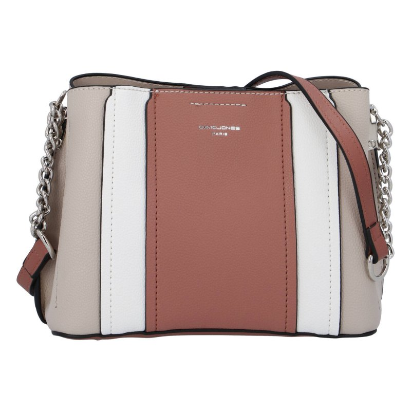 Elegantní dámská koženková kabelka Ina D., růžová
