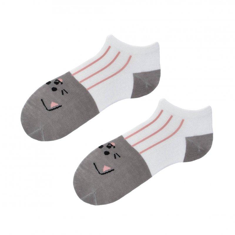 Kotníčkové ponožky Aura via Kočička 35-38, šedé