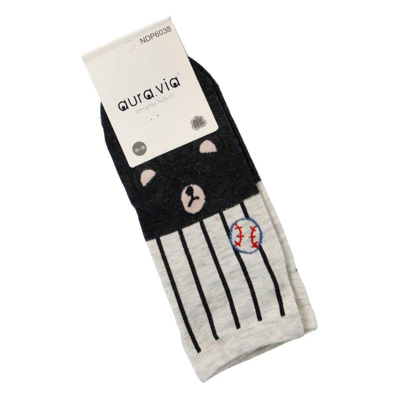 Kotníčkové ponožky Aura via Tučňák 38-41, šedé