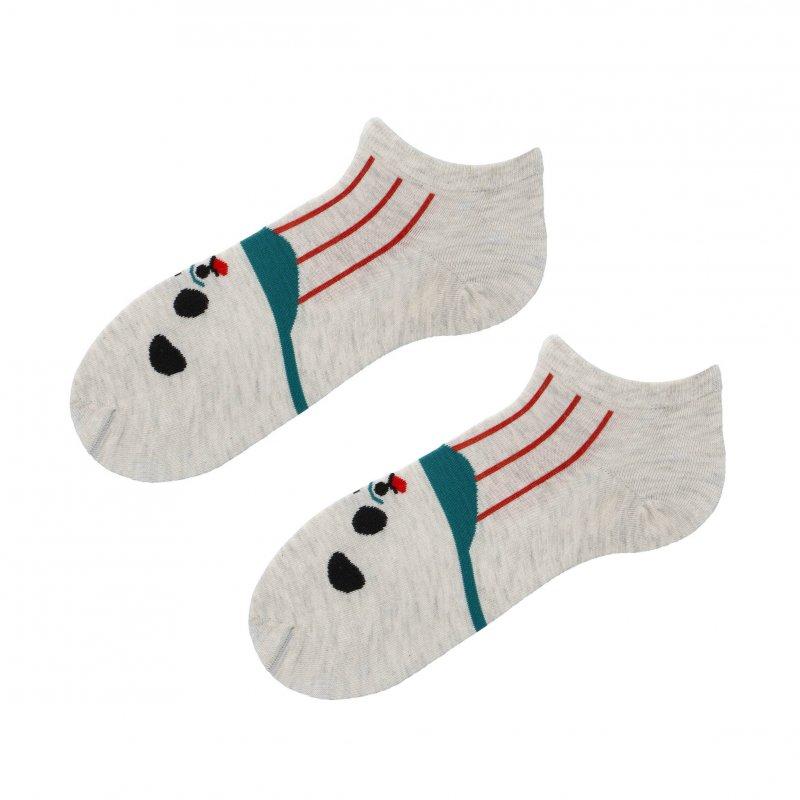 Kotníčkové ponožky Aura via Panda 38-41, béžové