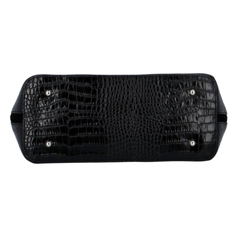 Moderní kožená dámská kabelka Enjoy it, černá