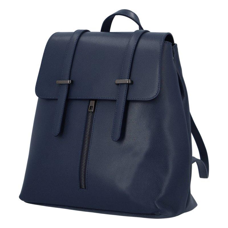 Elegantní dámský kožený batůžek Donald, modrý