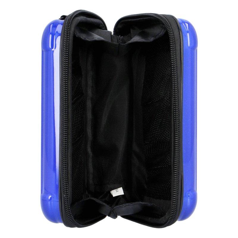 Moderní malá skořápková kabelka Forever young,modrá
