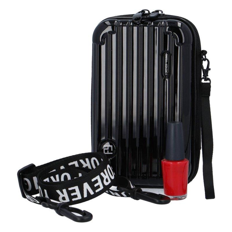 Moderní malá skořápková kabelka Forever young, černá