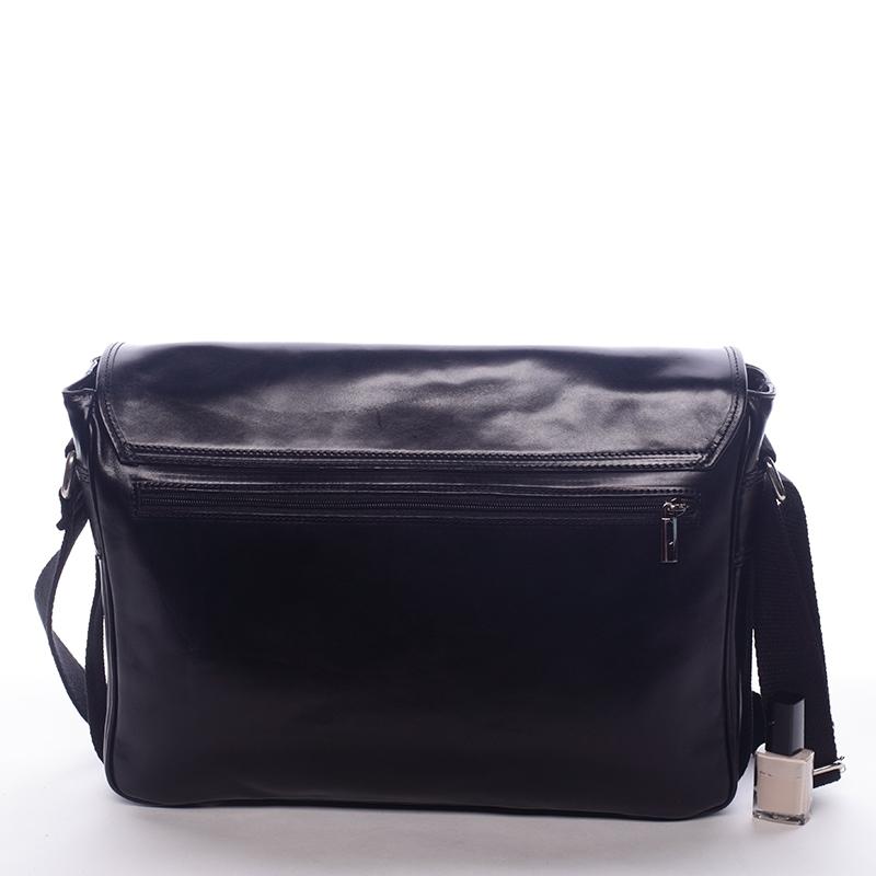 Kožená taška Pella, černá