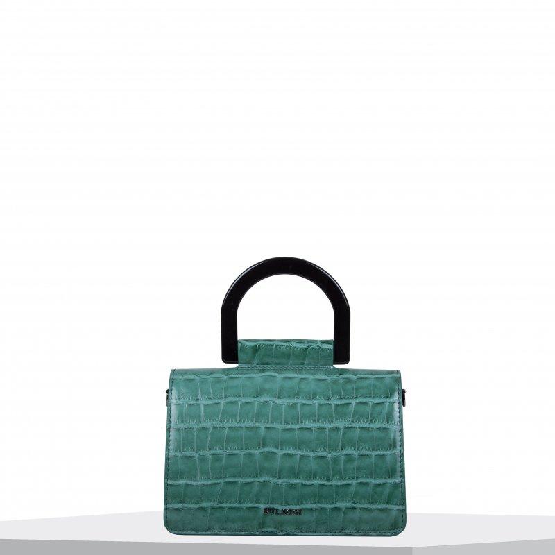 Dámská crossbody BULAGGI kabelka Croco, smaragdově zelená
