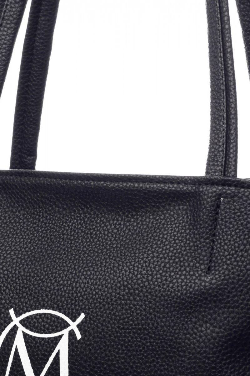 Praktická módní dámská koženková kabelka Milano černá