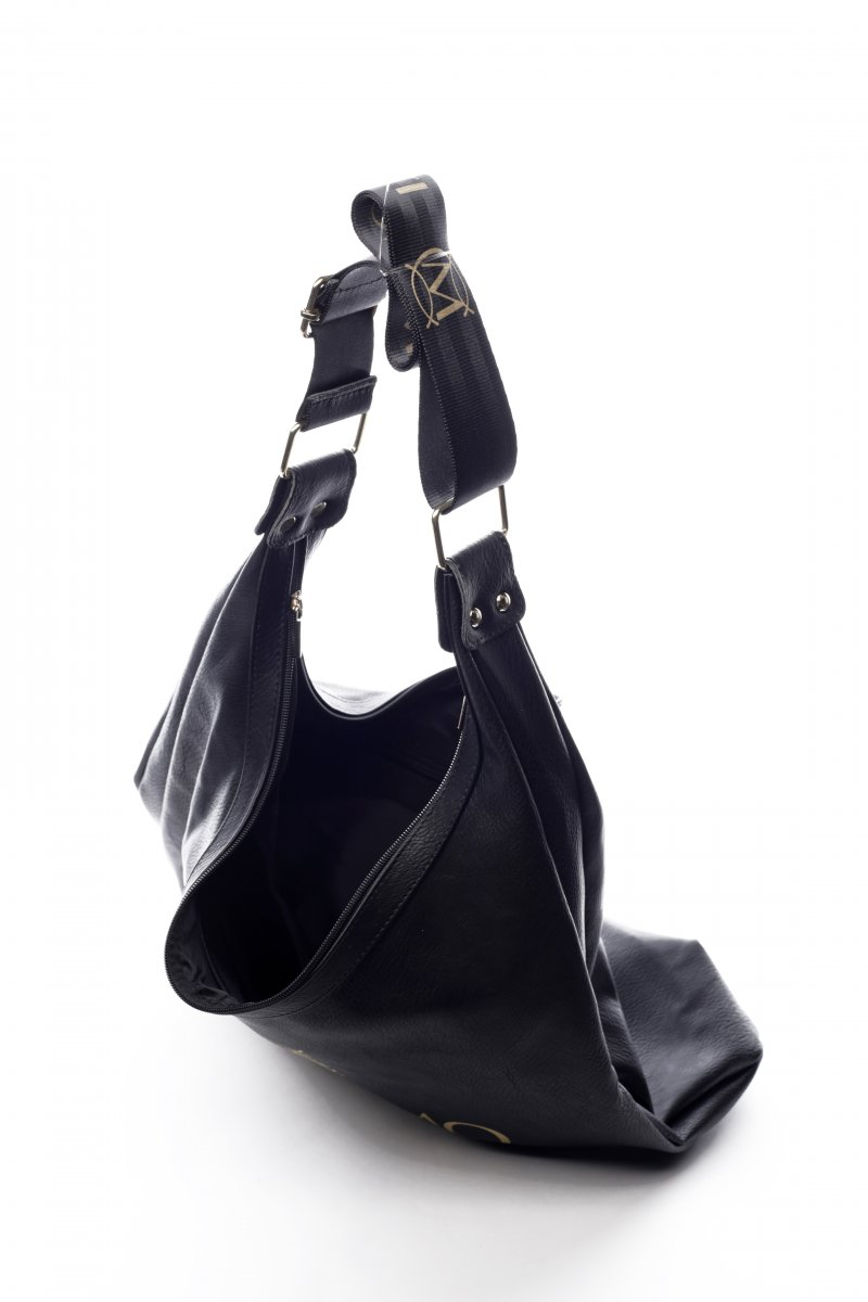 Pohodlná módní dámská koženková kabelka Venezia černá
