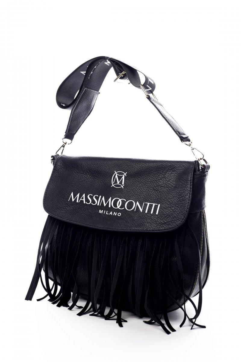 Módní dámská koženková kabelka Vieste černá