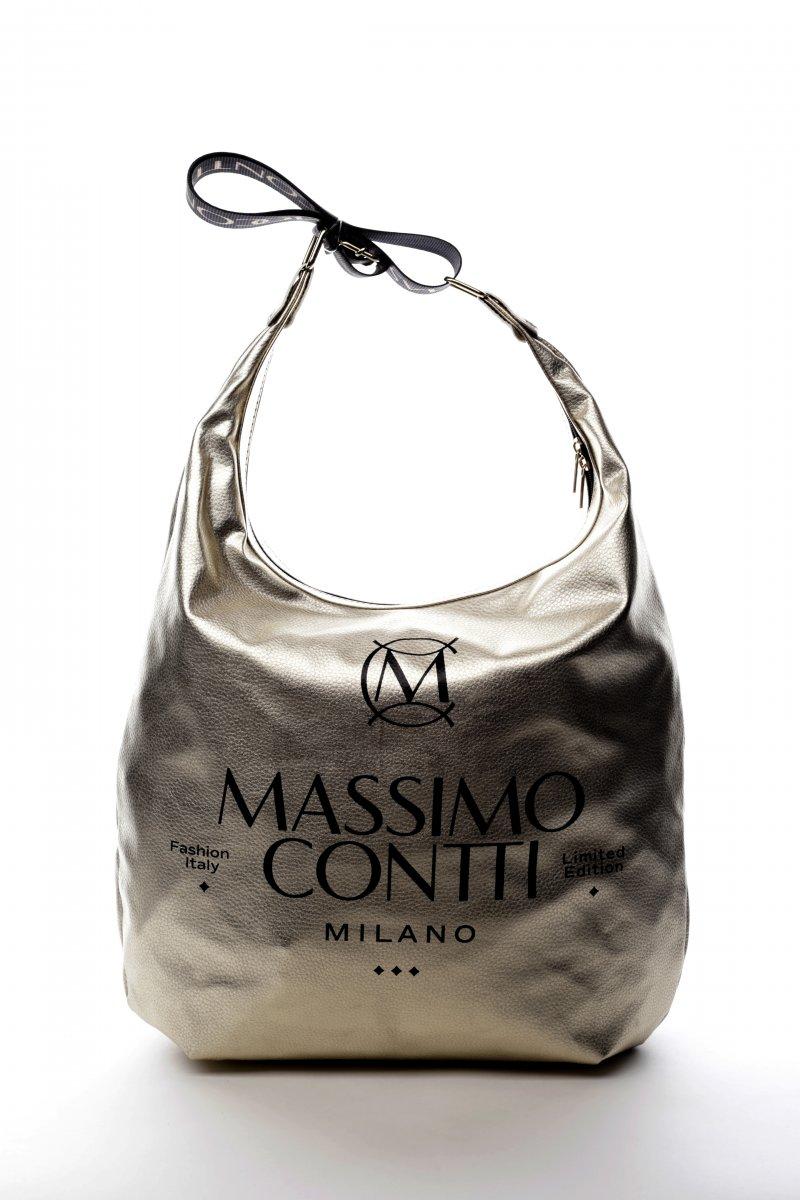 Pohodlná módní dámská koženková kabelka Venezia zlatá