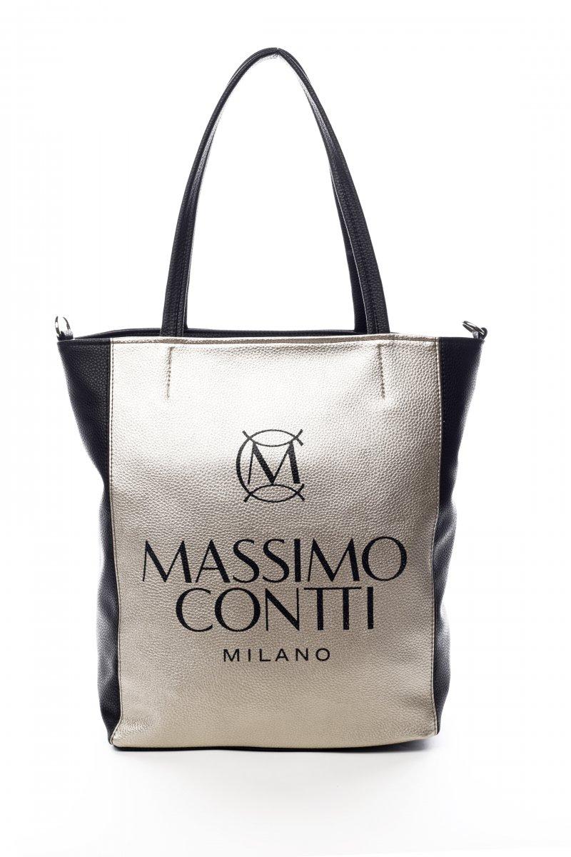 Praktická módní dámská koženková kabelka Milano zlatočerná