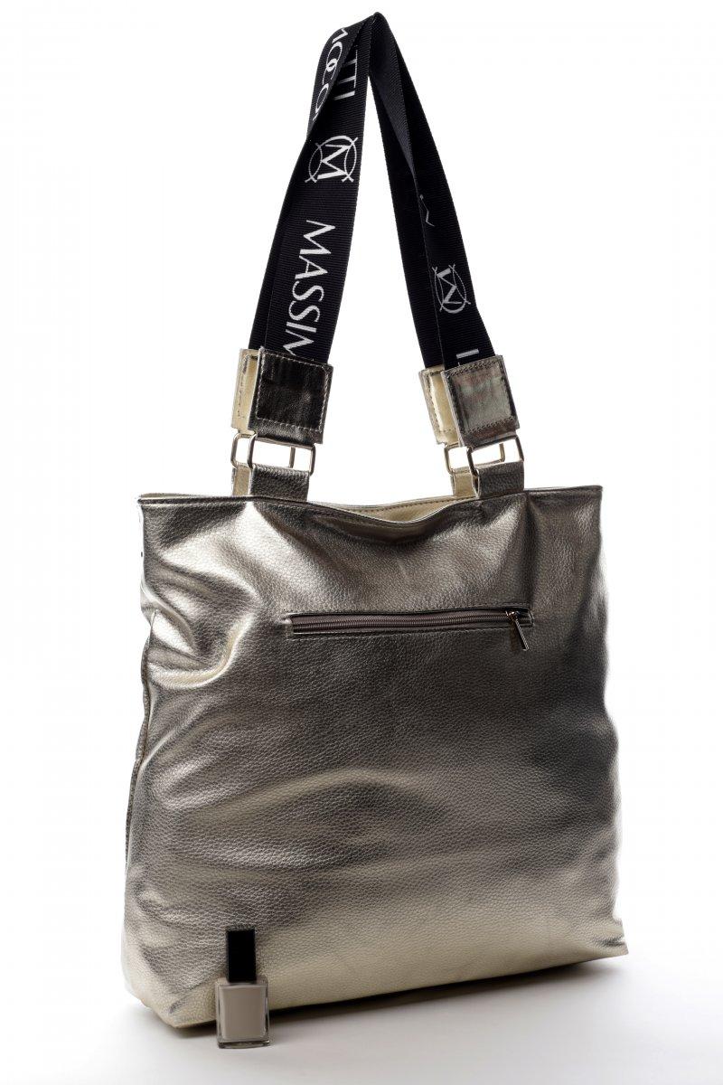 Velká prostorná koženková dámská taška Torino zlatá